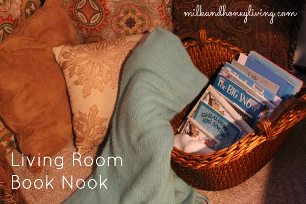 Living Room Book Nook
