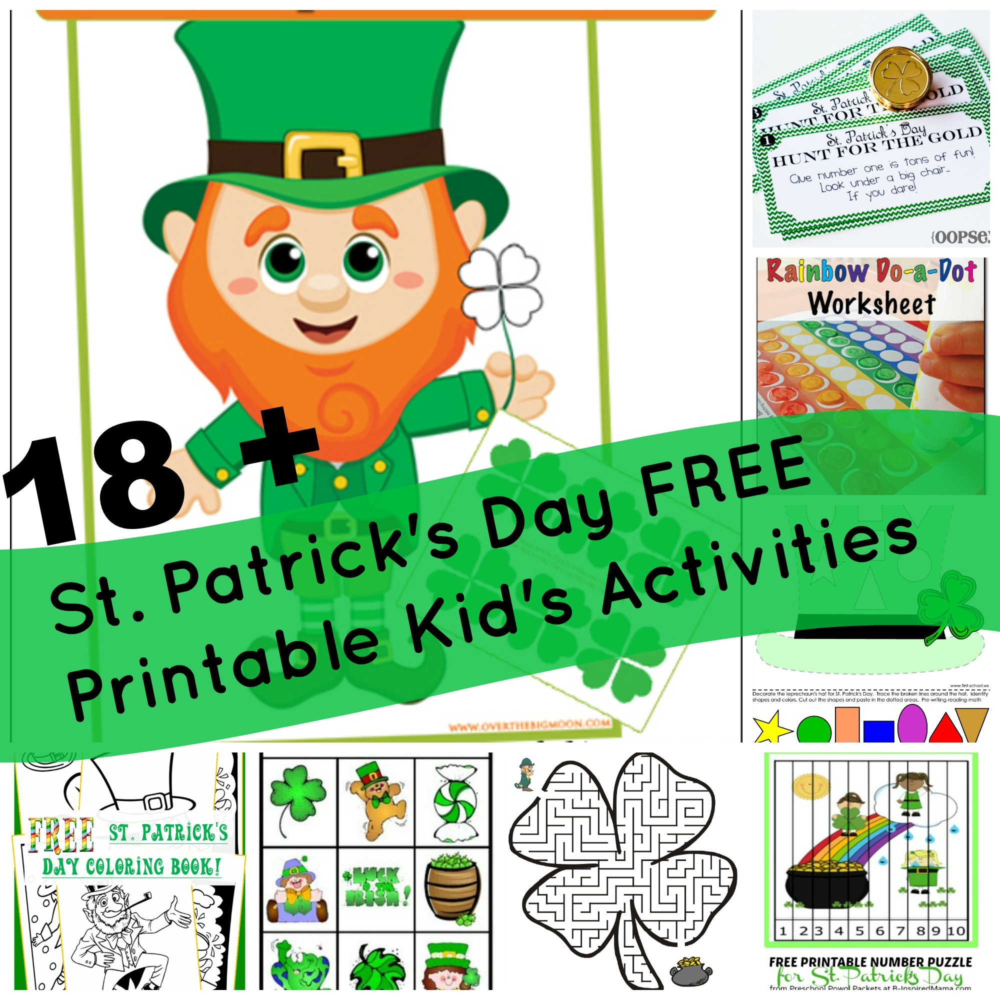 18 + St. Patrick\'s Day {FREE PRINTABLE} Kid\'s Activities! | Milk ...